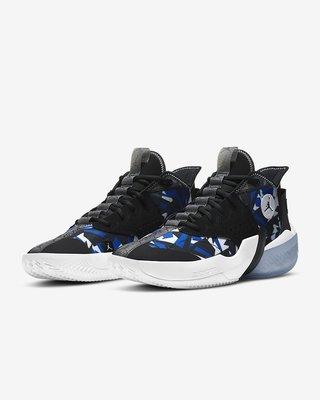 [新挑戰] NIKE JORDAN REACT ELEVATION PF 黑 藍 幾何圖 男籃球鞋 現貨