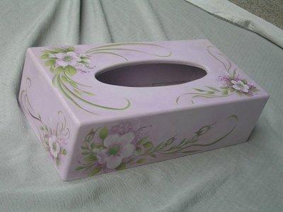 [ 丁銘畫廊 ] 面紙盒 - 精緻創作品 - 獨一無二 - 精緻華麗 - 純手工畫  木器彩繪 原創作品