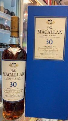 The Macallan Sherry Oak 30 Year Old Single Malt Scotch Whisky, Scotland