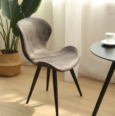『格倫雅』北歐餐椅子 現代簡約家用西餐廳咖啡廳餐桌椅組合書房椅子 靠背^1643