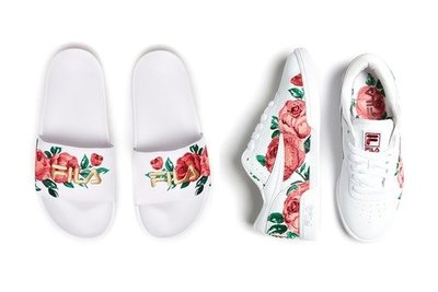 """FILA UNLEASHES NEW FLORAL """"EMBROIDERY PACK"""" 刺繡 拖鞋 球鞋 女款"""