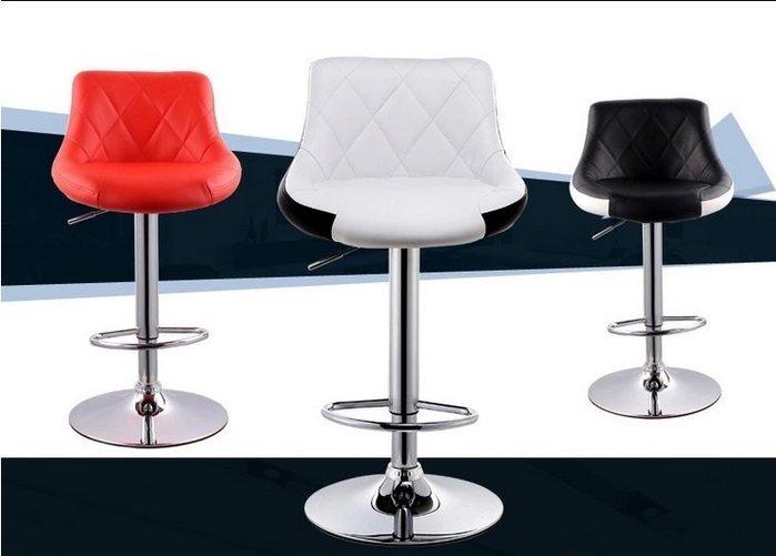 【南洋風休閒傢俱】吧台椅系列-皮吧椅 靠背吧椅  格皮升降酒吧椅 適餐廳 咖啡屋
