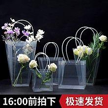 新品上市#PVC透明防水鮮花手提袋花店花藝花束包裝材料ins手拎袋塑料禮品袋#禮盒#包裝盒