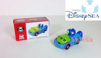 《東京家族》東京迪士尼樂園限定 玩具總動員 三眼怪 TOMY公仔小汽車 賽車