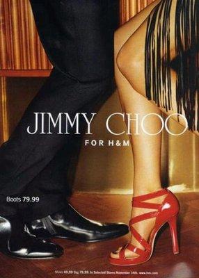 全新美國大道排隊搶購逸品 JIMMY CHOO X H & M 紅色高跟鞋👠
