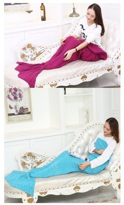 【 140CM*70CM美人魚尾巴毛毯】 針織 懶人毯 情人節禮物 生日禮物 美人魚毛毯 聖誕節禮物 毯子 被子