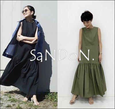 山東:Spick and Span 八月新品 法式女伶設計背後綁帶蝴蝶結設計少女無袖荷葉裙襬設計洋裝 200807