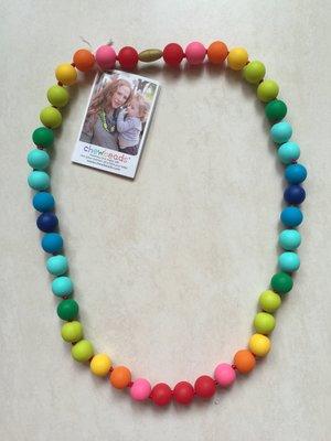 全新美國CHEWBEADS嬰幼兒固齒項鍊限量版彩虹色