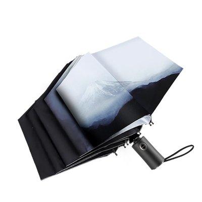 雨傘富士山雨傘女晴雨兩用折疊簡約自動太陽傘防曬防紫外線遮陽傘日系
