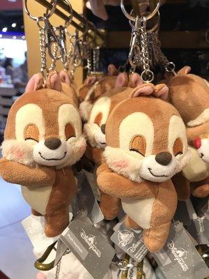 全新 迪士尼代購 Disney - 大鼻鋼牙 Chip and Dale 睡寶寶 鋼牙款 Keychain 掛飾 鎖匙扣 正品 現貨(可旺角門市自取)