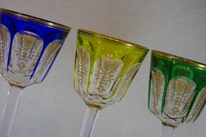 法國 BACCARAT 手工純金古董水晶杯 3件