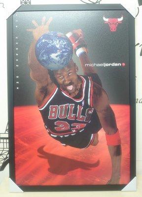 絕版經典美國NBA球星海報 美國進口 MICHAEL JORDAN(麥可.喬登)原版海報----13