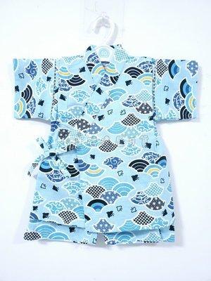 ✪胖達屋日貨✪褲款 95cm 水藍底 青海波 海鷗 日本 男 寶寶 兒童 和服 浴衣 甚平 抓周 收涎 攝影