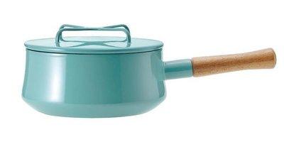 【小胖日本代購】Tiffany色下標區 日本進口 DANSK 木質單柄琺瑯鍋 燉煮鍋 2QT(18cm/18公分)◎