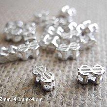☆ 惡魔小熊 手創 925銀飾批發 ☆ 925純銀 DIY材料  美金符號/錢   配件 單顆