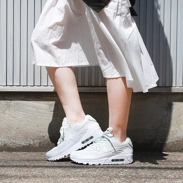 沃皮斯§ NIKE WMNS AIR MAX 90 白粉綠 女鞋 325213-419