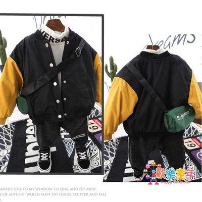 寶寶夾克外套男童薄款棉服棉衣兒童秋冬短款棒球服夾棉上衣潮