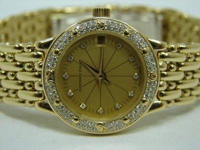 (板信當舖流當品) 原裝 AUDEMARS PIGUET 愛彼 18K金 女錶 9成9新 直購價125000元PR246