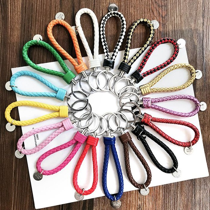 特價 超優惠》編織鑰匙圈 鑰匙扣 包包吊飾 扣環 圓形扣 掛飾 包包裝飾  卡套扣環 鑰匙圈 手拿包 掛繩 機車鑰匙扣