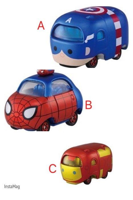 現貨 日本TOMY迪士尼小汽車 蛛蜘人/鋼鐵人/美國隊長
