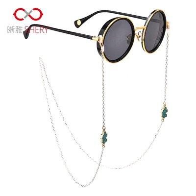 【ulker_801營業中】眼鏡鏈條女簡約時尚掛脖眼睛帶繩子復古防滑掛繩明星款眼鏡防掉繩