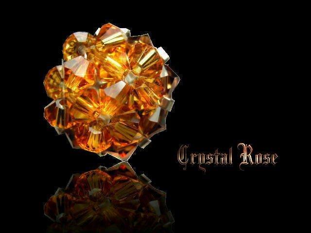 ※水晶玫瑰※ SWAROVSKI 水晶戒指~金黃(HAND17)