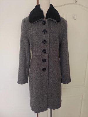 [99go] 專櫃 VIVENTE  灰色羊毛長大衣