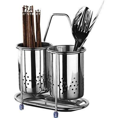筷子筒304不銹鋼瀝水筷架家用筷子收納盒