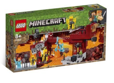 【預購+免運費】LEGO樂高積木,我的世界系列大戰烈焰人,小屋雞舍村莊,房子殭屍洞穴拼插玩具21154