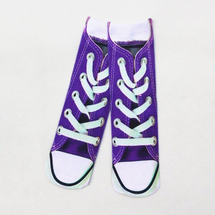 帆布鞋中筒襪3D創意襪