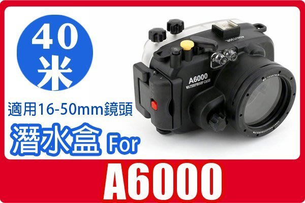 FOR SONY A6000 A6000L 潛水殼 防水盒加購保護帶$800另有A5100 A6300 URX100A
