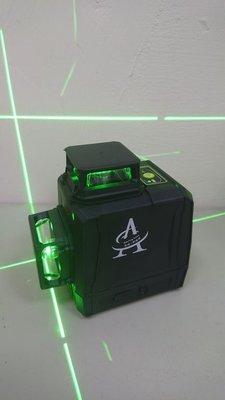 ☆捷成儀器☆A360G綠光雷射水平儀 墨線雷射儀激光水平儀3D12線 4垂直4水平可貼壁泥作磨基可用
