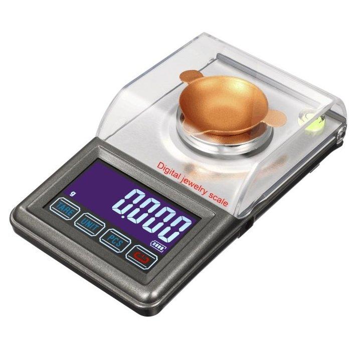 【世明國際】高精度 電子秤 30G/0.001克 珠寶 黃金 寶石 0.001g-30g 防風罩 USB供電 帶砝碼