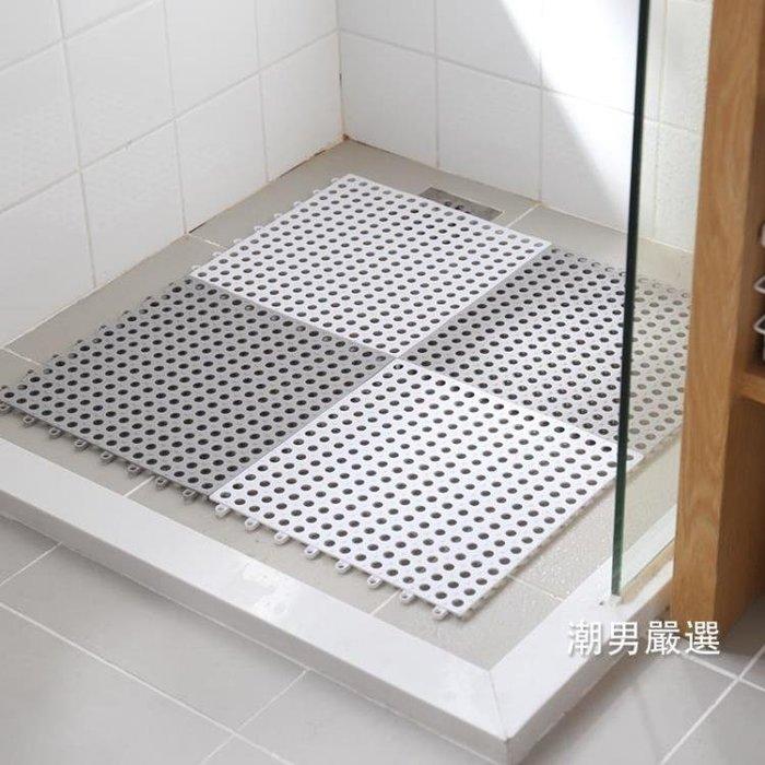 浴室止滑墊 洗澡間浴室防滑墊 拼接方形家用衛生間隔水地墊 淋浴房衛浴腳墊 3色(全館免運)