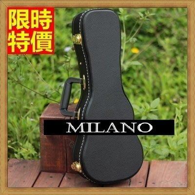 烏克麗麗盒 ukulele 琴箱硬盒配件-26吋純色簡約皮革手提背包保護箱琴盒69y34[獨家進口][米蘭精品]
