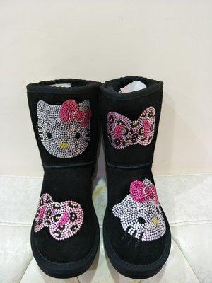 東京家族 Hello Kitty毛茸茸短靴-----黑色