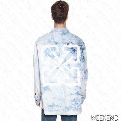 【WEEKEND】 OFF WHITE Washed 水洗 牛仔 長袖 襯衫 藍色 20春夏