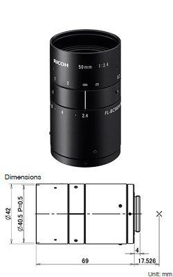 "Ricoh FL-BC5024-9M 9MP 1"" 50mm f2.4"