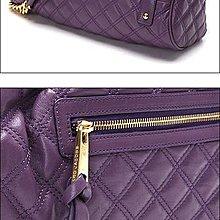 Marc Jacobs C3113000 Quilting Stam Leather Satchel 菱格紋羊皮祖母包 Purple 紫