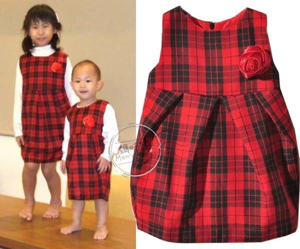 媽咪家【AG070】AG70喜氣背心裙 格紋洋裝 格子裙 背心裙 喜慶年節必備 四季可穿~110.120.130