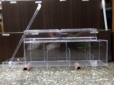 海威水族 ~ 2尺 改良式 乾溼分離過濾槽 附便當盒 可曡多層便當盒 結合底部過濾方式 乾濕分離過濾槽 高雄市