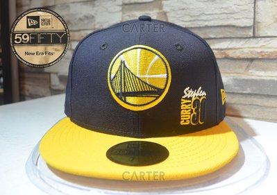 New Era NBA Golden State Warriors Stephen Curry 金州勇士咖哩全封尺寸帽