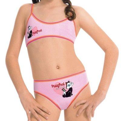 【西班牙 PRINCESA】(3097) 女童小可愛嘉飛貓pussyfoot 內衣內褲套 (尺寸8)