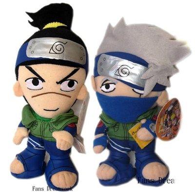 【卡漫迷】瑕疵特價 出清 火影忍者 絨毛娃娃 ㊣版  伊魯卡 Iruka 小櫻  玩偶 布偶 吸盤 Naruto 佐助
