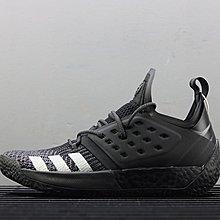 D-BOX  Adidas Harden Vol.2 運動休閒鞋 籃球鞋 黑色 針織