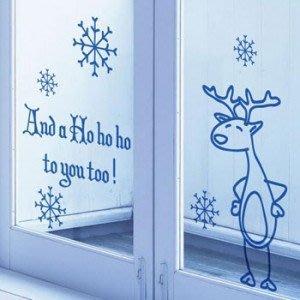 小妮子的家@聖誕鹿壁貼/牆貼/玻璃貼/磁磚貼/汽車貼/家具貼