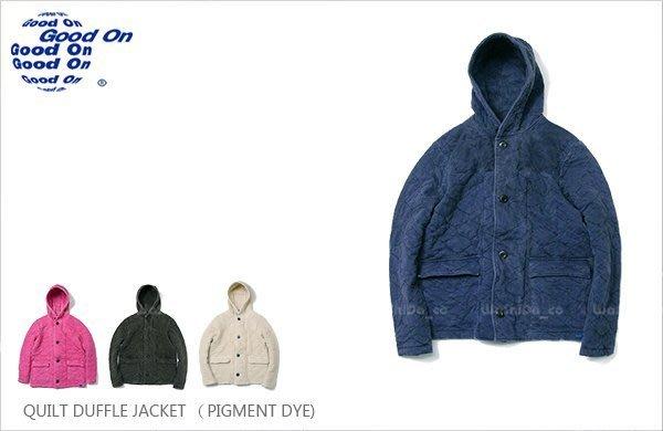 WaShiDa【gobw1102p】Good On 日本品牌 後染 短版 連帽 鋪棉 菱格紋 大衣 外套