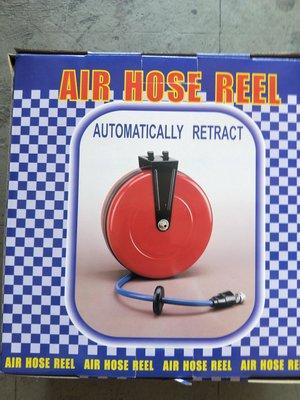 """""""工具醫院"""" MIT 台灣製造-Air Hose Reel《專業級》空壓機 風槍 封閉式自動伸縮風管捲揚器/風管輪座/PU管8*12mm*15M"""