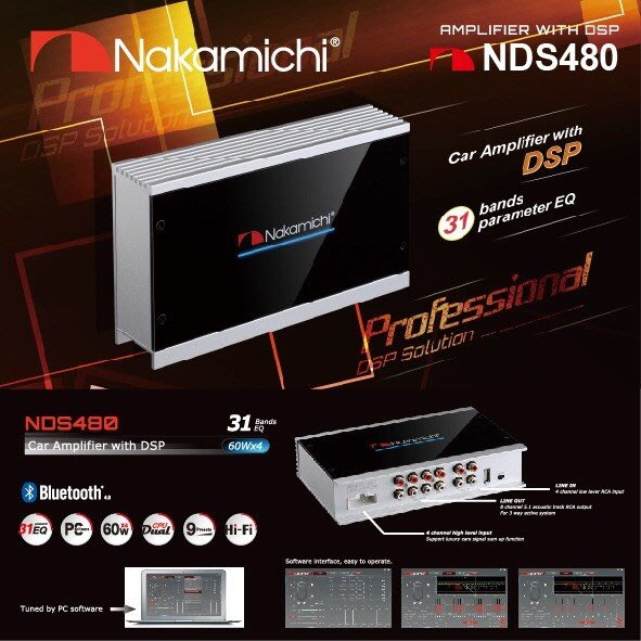 [樂克影音] Nakamichi NDS480 日本中道 八聲道  數位訊號處理器  DSP 音場處理器 高功率60W