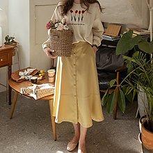 【韓國連線】alice 愛麗斯韓國 111127 前排釦後鬆緊設計長裙
